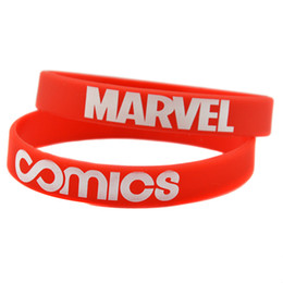 100PCS Lot Printed Wristband COMICS Marvel Silicone Bracelet It is Soft And Flexible Great For Animation Fans Gift