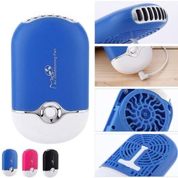 Wholesale Portable Mini Bladeless USB Fan no leaf Electric Fan Air Conditioner Refrigeration Fan Handheld Cooling