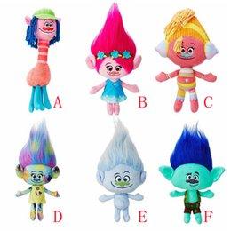 Movie Trolls peluche Toy Movie Trolls Poppy Hug 'N peluche cadeau de jouet de Noël poupée pour les enfants à partir de étreindre jouets en peluche fabricateur