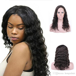 Loose Wave Brazilian Virgin Hair Full Lace Wigs Natural Color 100% Unprocessed Human Hair 130% Density Weaving Machine Double Weft