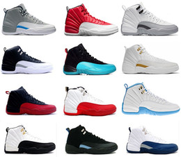 Air retro 12 men Basketball Shoes ovo white Taxi Flu Game Gamma blue Playoffs French Blue Varsity Red University blue wolf grey sneakers