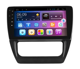 Wholesale 10 quot big screen Quad core Android Car DVD player GPS stereo with big hole for Volkswagen Sagitar year