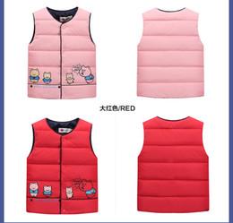 2016 new cartoon children down vest big boys girl pig warm children's clothing down jacket vest