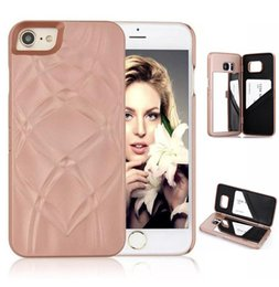 Mirror Wallet Case for iPhone 7 6 6s Plus Flip Card Slot Holder Makeup Phone Cover for Samsung Galaxy S8 Plus S7 edge