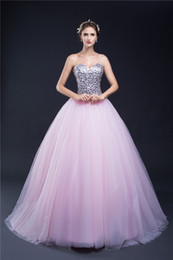 2018 New Sweetheart Lilac Sweet 16 Quinceanera Dresses Sequins Back Lace up Big Girls Party Prom Pageant Celebrity Evening Catwalk Gowns