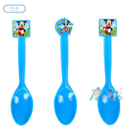 Wholesale Supplier Party Supplies - Wholesale-36pcs lot spoon fork knife mickey birthday kids baby party paper kids birthday suppliers Theme Supplies Decoration