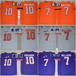 Wholesale 2017 Playoff Diamond Boulware Mike Williams DeShaun Watson Scott Gallman II Championship Clemson Tigers College Football Jersey