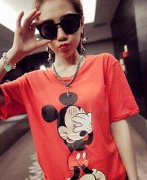 Las camisetas al por mayor 2016 de las mujeres de las camisetas de las mujeres de la camiseta de Mickey ponen en cortocircuito la manga Las camisetas imprimieron las camisetas desde tipos de pantalones cortos para las mujeres fabricantes