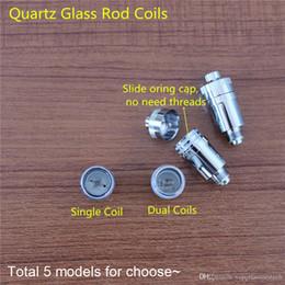 2017 Globe Replacement Dual Coils Ti2 Wire Quartz Wick Thick Nichrome Wire Dual Coils Dry Vaporizer 2017 Big Promotion
