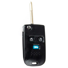 Guaranteed 100% 3 Button Car Remote Flip Key Fob Shell Case For Ford Uncut Blade Free Shipping