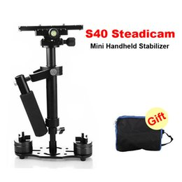 Wholesale S40 cm Professional Handheld Stabilizer Steadicam for Camcorder Digital Camera Video Canon Nikon Sony DSLR Mini Steadycam