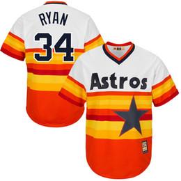 2016 Majestic Houston Astros Nolan Ryan Men's Game Cool Base Player Jersey Baseball Jerseys free shipping