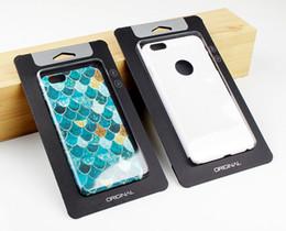 500pcs Simple black Kraft Paper With Transparent Plastic Packaging Box For Phone Case For iPhone 5 6s 6 plus 7 7 plus