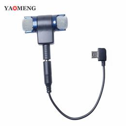 Usb gopro en Línea-Micrófono estéreo 3.5mm Mic Adaptador USB Cable + Micrófono para GoPro HD Hero 2 3 3+ 4 Cámara 100-10 Respuesta de frecuencia