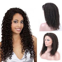 Factory Price Full Lace Human Hair Wigs For Black Women With Baby Hair Pre Plucked 130% Brazilian Kinky Curly Human Hair Wig Non-Remy