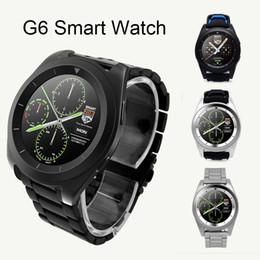 Acheter en ligne Moniteur de sommeil podomètre-G6 Bluetooth Smart Watch pour Android Système IOS sans fil Smart Watch Support Podomètre Sleep Monitor avec Retail Package NOUVEAU OTH354