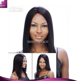 Wholesale Sexy Front Lace Wig - Cheap Peruvian straight natural color ship fast full lace wig lace front wig hot sale sexy hair