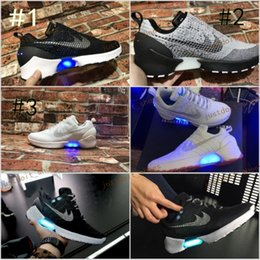 Wholesale 2017 New Running Shoes HyperAdapt Hyper Adapt I Mens Basketball Shoes Athletic Sneakers Led Light Mag Back To Future Size
