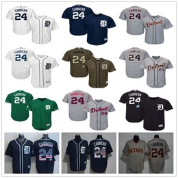 Mens #24 Miguel Cabrera Green Celtic Gray Fashion Stars Navy Blue White with Pink for Mothers day Detroit Tigers Baseball Jerseys Sale