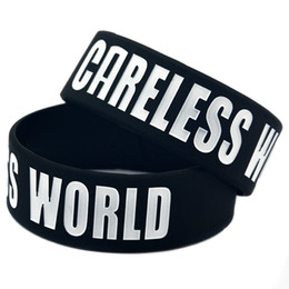 50PCS Lot Careless World - Last King 1 Inch Wide Wristband Great To Used In Any Benefits Gift For Music Fans