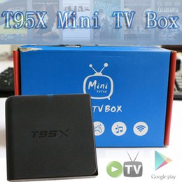 Wholesale 2017 Model T95X Android TV box T95X Amlogic S905X Bits Video Stream Box with Fully Loaded Unlimited Kodi Apps OTA available