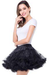Hot Selling Multi Color Petticoats Tulle Underskirt Short Skirts for Wedding Dress Crinoline Jupon Saia Women Skirt In Stock CPA296
