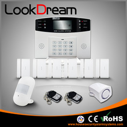 Update Electronic Home Wireless Burglar Security System House GSM Alarm Low Consume Power By DHL Free