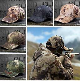 Descuento sombreros de camuflaje Hombres de ejército Camo Cap béisbol táctico Ajustable Casquette Camuflaje Militar Sombreros Hombres Caza Cap Mujeres Desierto Camo Sun Sombrero Hombre S56