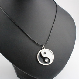 New Fashion Necklaces & Pendants China Eight-diagram-shaped Appetizer Pendant Necklaces Silver Plated Leather Necklaces For Unisex Gift