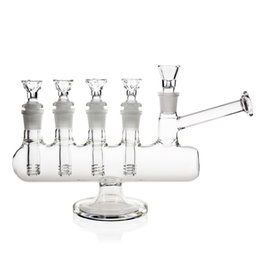 REANICE Shaped bong Well done complex bongs 14.5mm bong bowl Height 17cm Straight Glass Pipes Honeycomb Branch Water Oil
