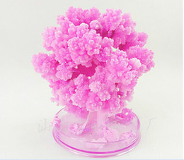 iWish Visual 2017 Artificial Magical Japanese Sakura Paper Trees Christmas Growing Tree Desktop Cherry Blossom Magic Kids Science Toys 10PCS
