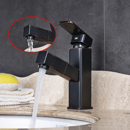 Wholesale and Retail Bathroom Basin Faucet Pull Out Oil Rubbed Bronze With Single Hole Single Handle Sink Mixer Tap