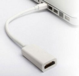 Wholesale High Quality Thunderbolt Mini DisplayPort Display Port DP to HDMI Adapter Cable For Apple Mac Macbook Pro Air