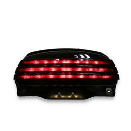 Smoke Tri-Bar Fender LED Turn Tail Light +Bracket For Harley Softail FXSTB 06-UP