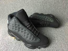 Air rétro 13 chaussures de basket-ball hommes mens Chicago chaussures de sport rétro 13 chaussures de sport de chat noir hologrammes barons discount chaussures pour homme cheap sporting shoes on sale à partir de chaussures de sport pas cher fournisseurs