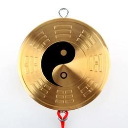 Pure copper medallion jiugong bagua mirror hang tai chi Yin and Yang feng shui bagua mirror plane mirror's accessories