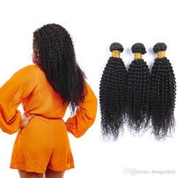 Brazilian Remy Human Hair Extensions Kinky Curly 100% Human Hair Weave Bundles Natural Color 3 Piece 8A Grade Best Hair Products Dyeable