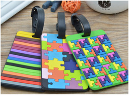 Wholesale PVC Travel Luggage Label Luggage tag Suitcase Tag Name ID Address Colorful Suitcase Label Tag