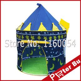 Venta al por mayor-Ultralarge niños playa tienda de juguete de bebé jugar casa de juego, los niños princesa príncipe castillo interior de juguetes al aire libre tiendas de regalos de Navidad desde cabrito casa tienda de campaña fabricantes