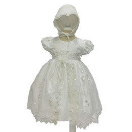 Newbron baby girls Christening Gown infant baby girls lace Birthday party dress baby white wedding tutu dress 2pcs girls clothes