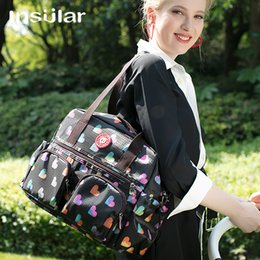 Wholesale Floral Printing Waterproof Baby Diaper Bag Fashion Multifunctional Mommy Bag Women Tote Bag