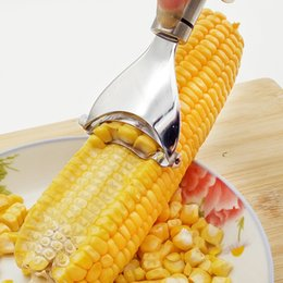 Máquina cepilladora en Línea-304 máquina de trilla de maíz de acero inoxidable Stripper máquina de desmontaje cortador para skiving maíz avión cocina gadgets