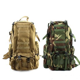 New arrival 50L Molle Tactical Assault Outdoor Military Rucksacks Backpack Camping Bag Large 11Color 10 pcs