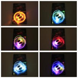 Discothèque clignotant conduit à vendre-80pcs (40 paires) LED lacets Lacets Chaussures Flash Up Up Glow Stick Strap Chaussures Disco Party Skating Sports Glow Stick ex