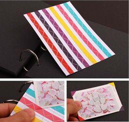 Wholesale 13Colors sheets DIY PVC Photo Corners Stickers For Album Stamp Decorative Corner Stickers Scrapbooking