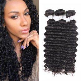 24 profonds faisceaux de cheveux bouclés à vendre-Cheveux bouclés malaisiens 3pcs / Lot Uglam Hair Deep Wave Formes bouclés Livraison gratuite 100% Virgin Human Hair extension Qualité supérieure naturelle 1b couleur