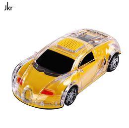 JKR DS-520BT Car Model Wireless Mini Car Bluetooth Speaker LED Flash Light Support TF SD FM Radio Multifunction For Phones PC