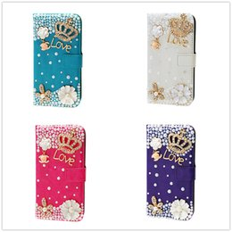 Luxury Glitter Crystal Diamond Rhinestone Butterfly flower Case For Apple Iphone 5S 4 Iphone 6 6S Plus case 7 7Plus PU Leather
