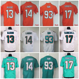 Wholesale 2017 Color Rush Red Elite Jarvis Landry Jersey Mens Dan Marino Ryan Tannehill Ndamukong Suh Home Aqua Green Embroidery Logo