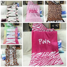 Wholesale VS Pink Beach Towel Pink Leopard Bath Towels Plage Bathroom Towels Fitness Spa Towels Beach Wrap Mat Drying Washcloth Swimwear Shower D341
